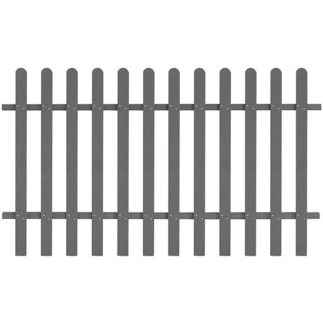 Hommoo Picket Fence WPC 200x120 cm VD27298