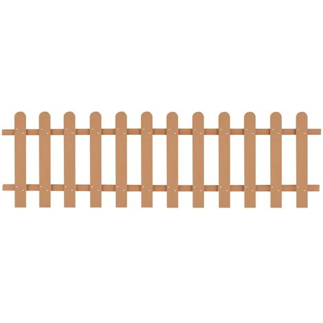 Hommoo Picket Fence WPC 200x60 cm VD27299