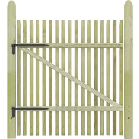 Hommoo Picket Garden Gate FSC Impregnated Pinewood 100x125 cm