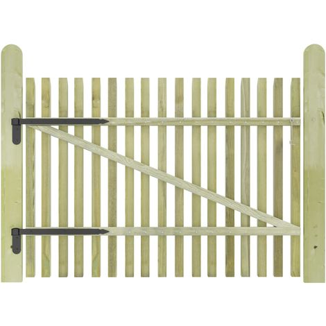 Hommoo Picket Garden Gate FSC Impregnated Pinewood 100x75 cm