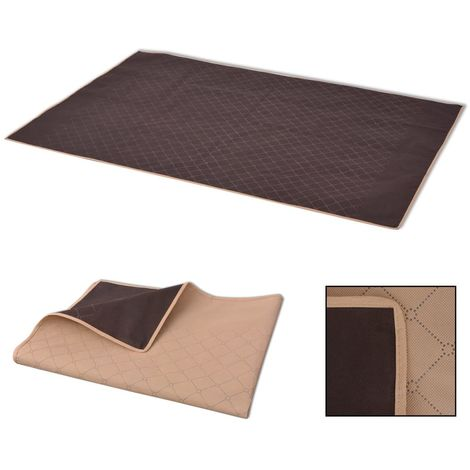 Hommoo Picnic Blanket Beige and Brown 100x150 cm