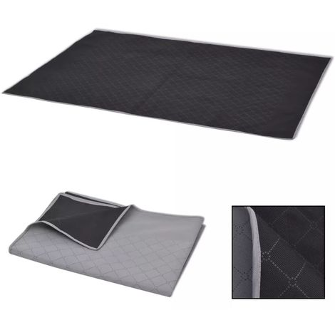 Hommoo Picnic Blanket Grey and Black 100x150 cm