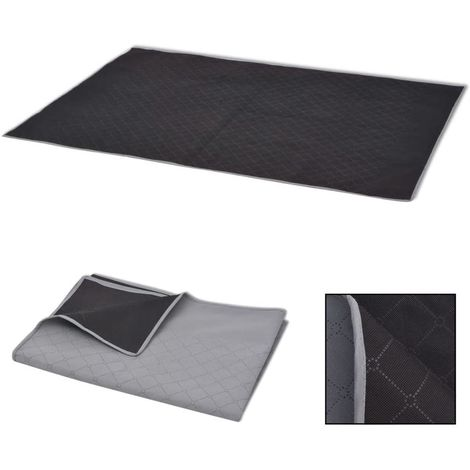 Hommoo Picnic Blanket Grey and Black 150x200 cm