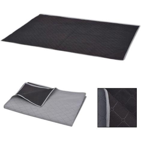 Hommoo Picnic Blanket Grey and Black 150x200 cm