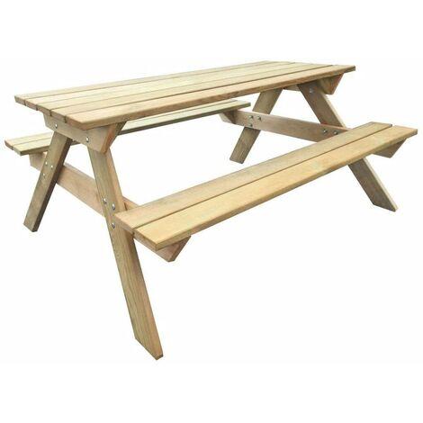 Hommoo Picnic Table 150x135x71.5 cm FSC Wood
