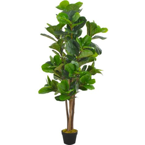 Hommoo Planta artificial ficus con macetero 152 cm verde