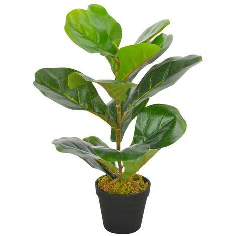 Hommoo Planta artificial ficus con macetero 45 cm verde