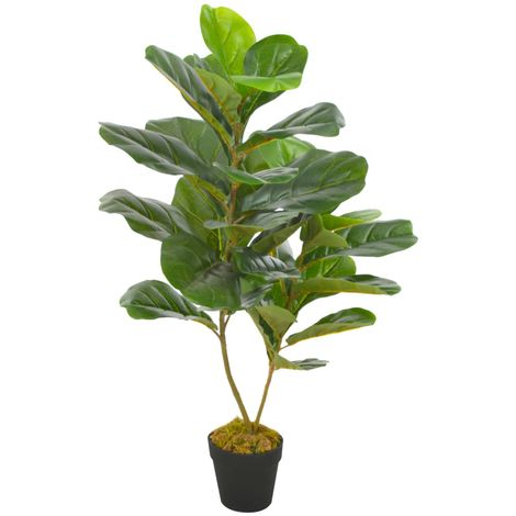 Hommoo Planta artificial ficus con macetero 90 cm verde