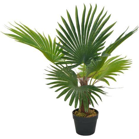Hommoo Planta artificial palmera con macetero 70 cm verde