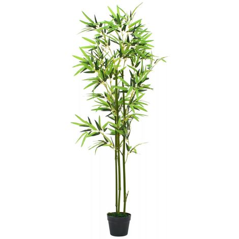 Hommoo Planta de bambú artificial con maceta 150 cm verde