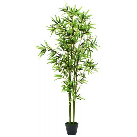 Hommoo Planta de bambú artificial con maceta 175 cm verde