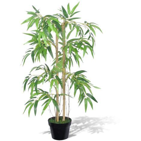 Hommoo Planta de bambú artificial Twiggy con macetero 90 cm