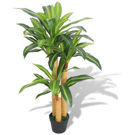 Hommoo Planta de drácena artificial con maceta 100 cm verde
