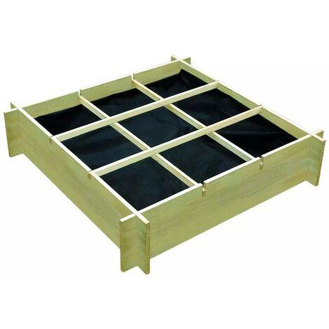 Hommoo Planter 90x90x20 cm FSC Impregnated Wood VD26754