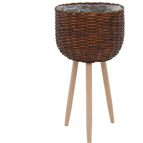 Hommoo Planter Wicker with PE Lining VD12747