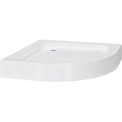 Hommoo Plato de ducha acrílico blanco 70x70x13,5 cm