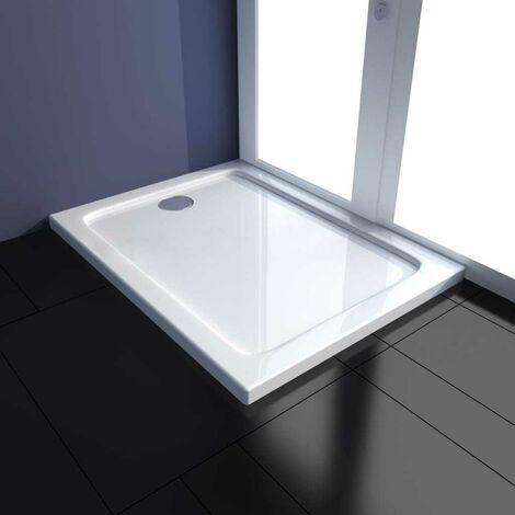 Hommoo Plato de ducha rectangular ABS 70x90 cm