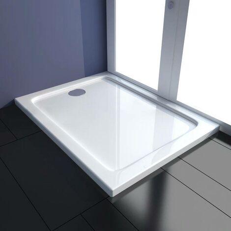 Hommoo Plato de ducha rectangular ABS 80x100 cm
