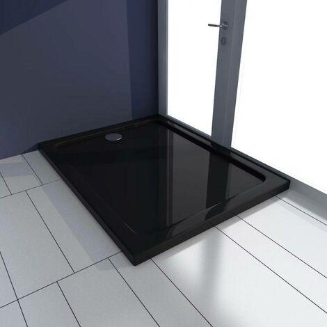 Hommoo Plato de ducha rectangular ABS negro 70x90 cm
