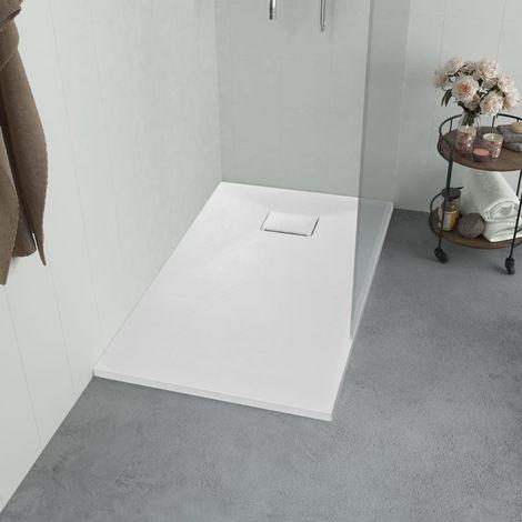 Hommoo Plato de ducha SMC blanco 100x70 cm