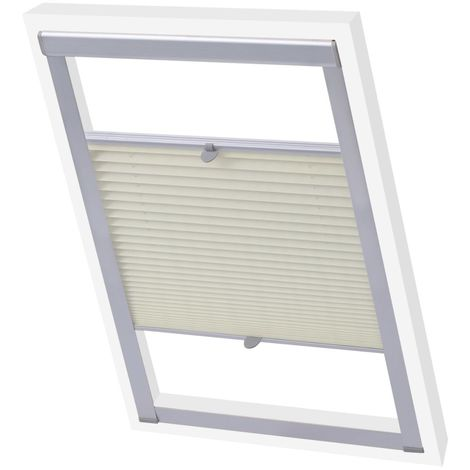 """main image of """"Hommoo Pleated Blinds Cream 206 VD00818"""""""