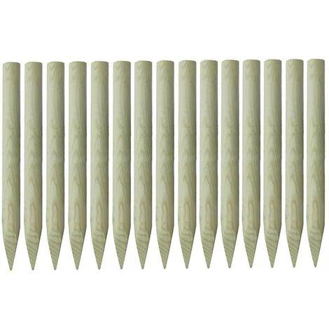 Hommoo Pointed Fence Posts 15 pcs FSC Impregnated Pinewood 4x100 cm