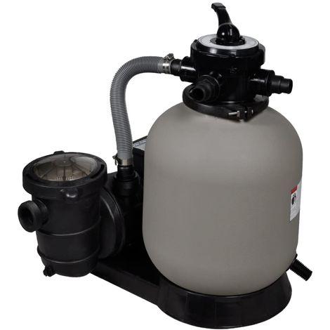 Hommoo Pompe à filtre à sable 600 W 17000 l/h