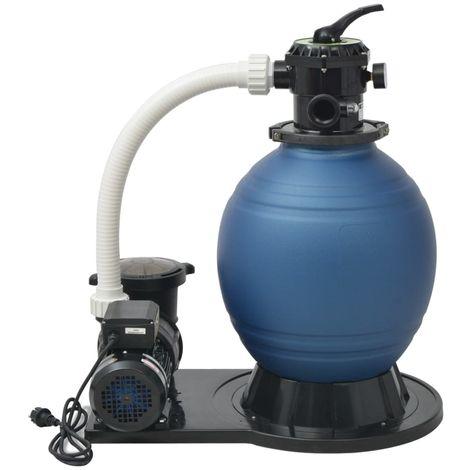 Hommoo Pompe de filtration à sable 1000 W 16800 l/h XL