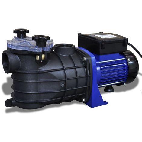 Hommoo Pompe électrique de piscine 500 W Bleu