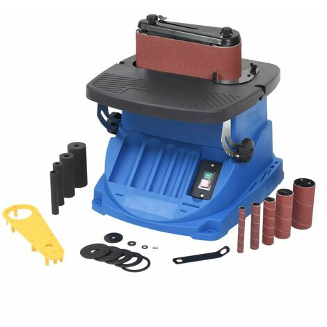 Hommoo Ponceuse à bande et à axe oscillant 450 W Bleu HDV04768