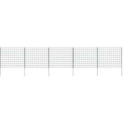 Hommoo Pond Fence Set 77.5x64 cm Green VD35460