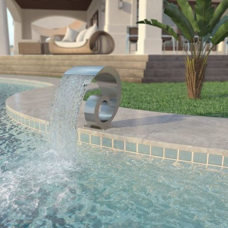 Hommoo Pool Fountain Stainless Steel 50x30x53 cm Silver VD27981