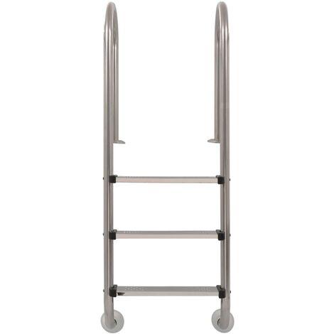 Hommoo Pool Ladder 3 Steps Stainless Steel 120 cm QAH32720
