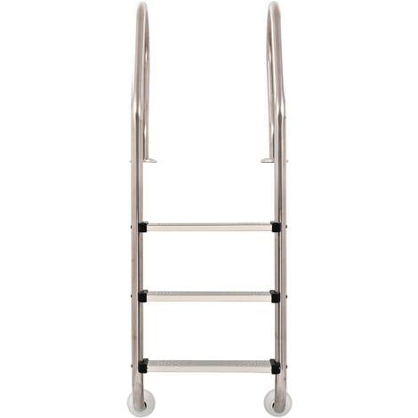 Hommoo Pool Ladder 3 Steps Stainless Steel 120 cm QAH32721
