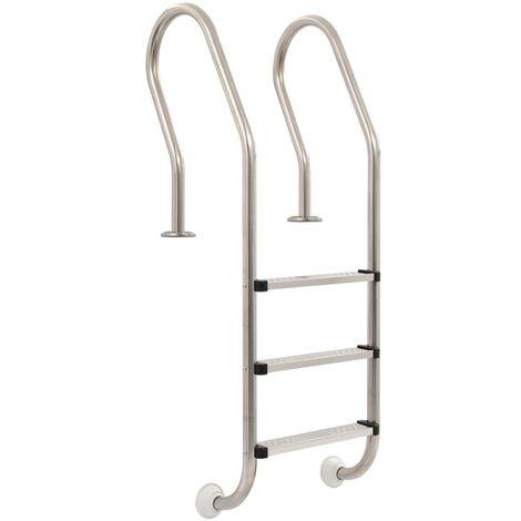 Hommoo Pool Ladder 3 Steps Stainless Steel 120 cm VD32721