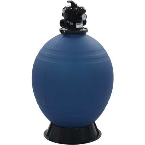 Hommoo Pool Sand Filter with 6 Position Valve Blue 660 mm