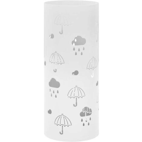 Hommoo Porte-parapluie Design Parapluies Acier Blanc HDV12729