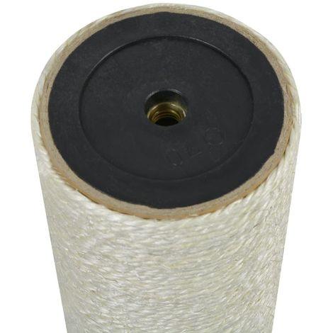 Hommoo Poste rascador para gatos 8x55 cm 10 mm beige