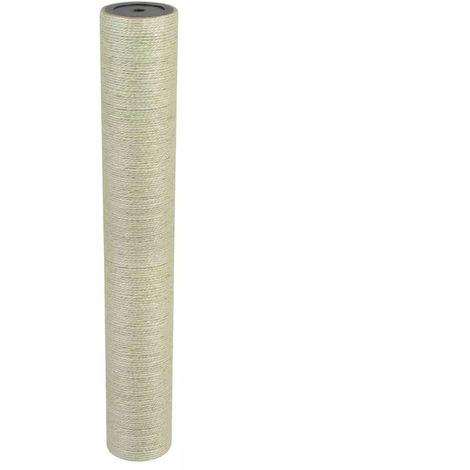 Hommoo Poste rascador para gatos 8x55 cm 8 mm beige