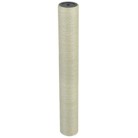 Hommoo Poste rascador para gatos 8x60 cm 10 mm beige