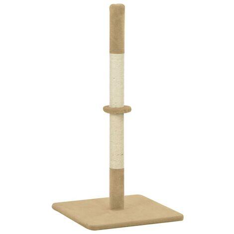 Hommoo Poste rascador para gatos de sisal 40x40x80 cm beige