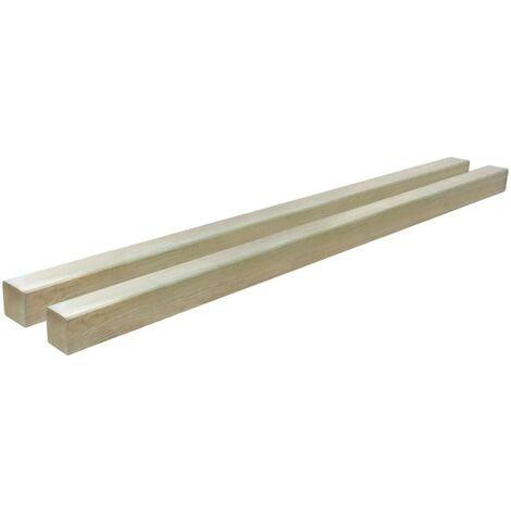 Hommoo Poteaux de clôture 2 pcs Bois de pin imprégné 9x9x150 cm HDV46826