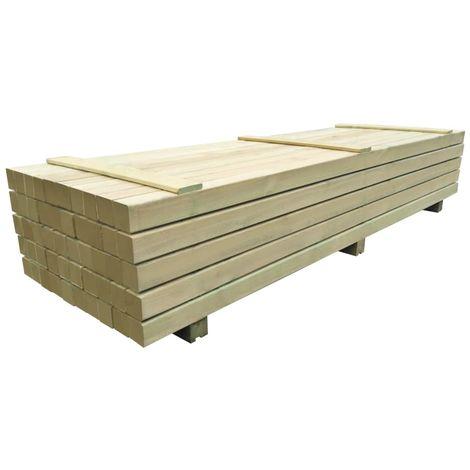 Hommoo Poteaux de clôture 50 pcs Bois de pin imprégné 9x9x240 cm