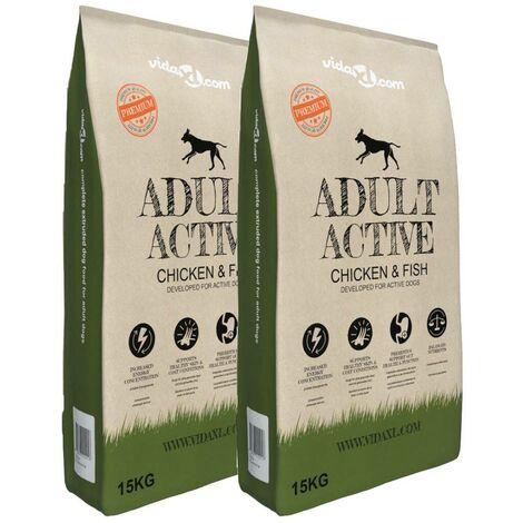 Hommoo Premium Dry Dog Food Adult Active Chicken & Fish 2 pcs 30 kg VD18129