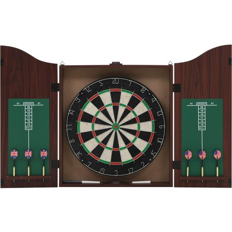 Hommoo Professional Dart Set with Dartboard and Cabinet Sisal Steel