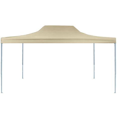 Hommoo Professional Folding Party Tent 3x4 m Steel Cream QAH46753