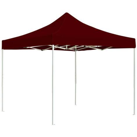 Hommoo Professional Folding Party Tent Aluminium 3x3 m Wine Red