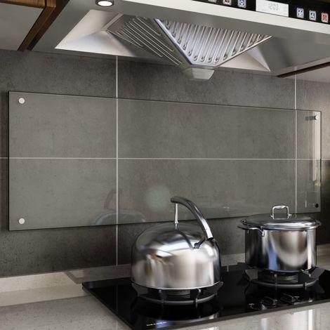 Hommoo Protector contra salpicaduras cocina vidrio templado 120x40 cm