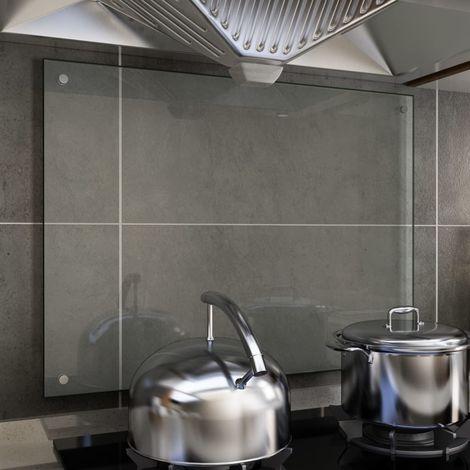 Hommoo Protector contra salpicaduras cocina vidrio templado 80x60 cm