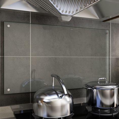Hommoo Protector contra salpicaduras cocina vidrio templado 90x50 cm